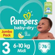 Pampers Jumbo Pack No 3 Midi 76