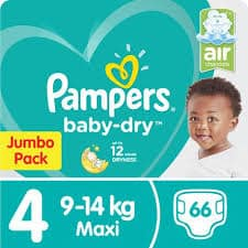 Pampers Jumbo Pack No 4 Maxi 62