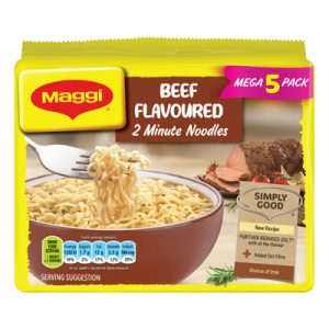 Maggi Beef Flavoured 2 Minute Noodles 5 x 73g