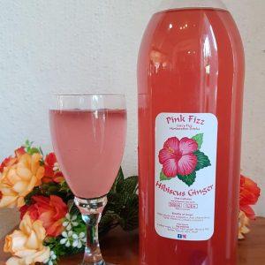 Lizz's Fizz Pink Fizz (Hibiscus & Ginger)