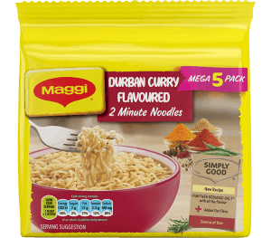 Maggi 2-Minute Noodles Durban Curry Flavour 73g 5s
