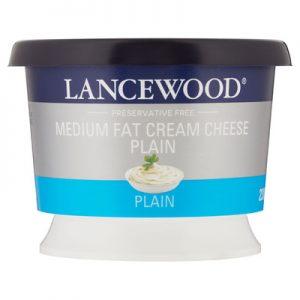 Lancewood Plain Medium Fat Cream Cheese 230g