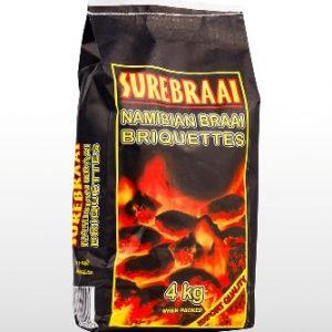 4kg Surebraai Namibian Briquettes
