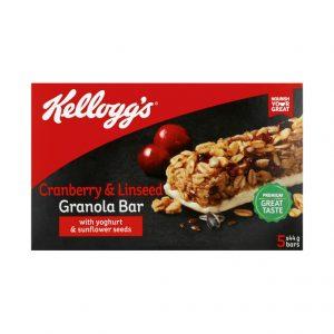 Kellogg's Granolla Bars CRANBERRY & LINSEED (1 X 5'S)