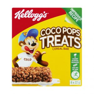 Kellogg's Cereal Bar Multipack Coco Pops Treats (6 X 22g)