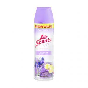Air Scents Aerosol Air Enhancer Mega Value Lavender and Vanilla (1 x 500ml)
