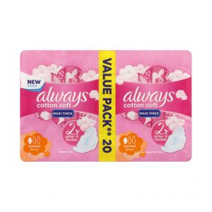 Always Maxi Pads Soft Normal Long (1 x 20's)