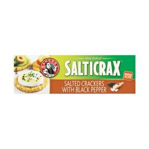 Bakers Salticrax Crackers Black Pepper (1 x 200g)